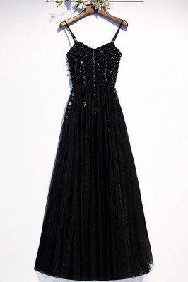 Slim Long Black Party Dress...