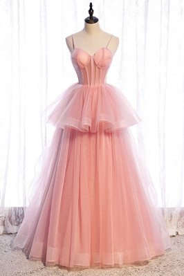 Ruffled Tulle Cute Pink...