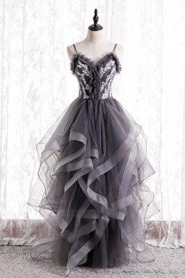 Grey Unique Prom Dress...