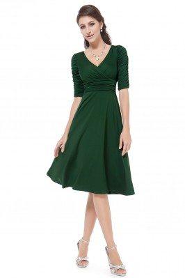 Dark Green V-neck 3/4...