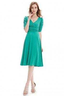 Turquoise V-neck 3/4 Sleeve...