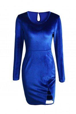 Women's Round Neck Blue...
