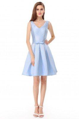 Women's Elegant V-Neck Blue...