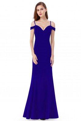 Royal Blue Off-the-shoulder...