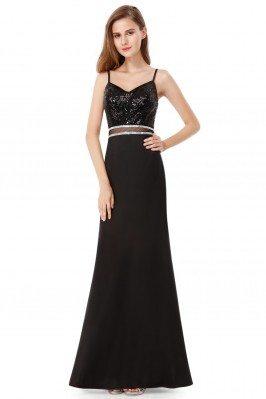 Black Sequined Sleeveless...
