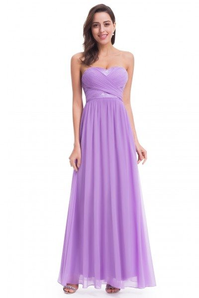 Lavender Sweetheart Long Party Dress