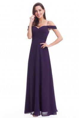 Dark Purple Chiffon Long...