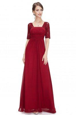 Burgundy Lace Short Sleeve...