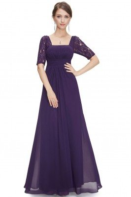Dark Purple Lace Short...
