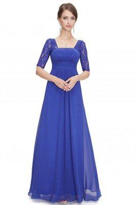 Royal Blue Lace Short...