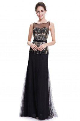 Women's Elegant Black Round...