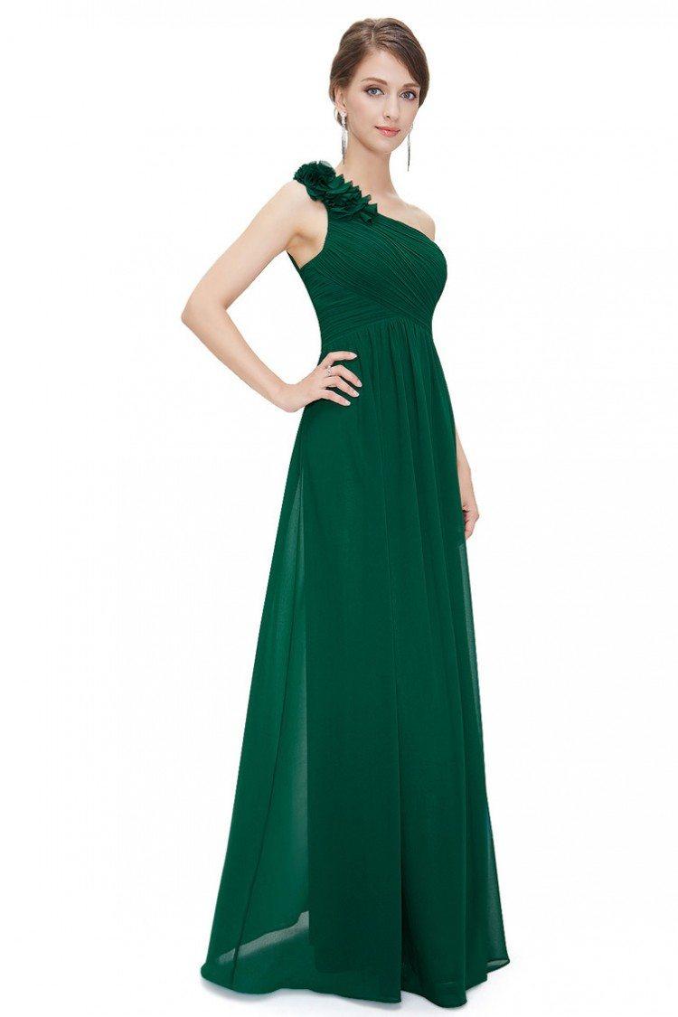 Mermaid Off-the-Shoulder Sweep Train Dark Green Prom Dress