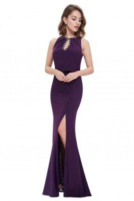 Purple Keyhole Neckline...