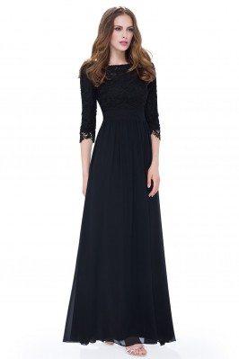 Elegant Black 3/4 Sleeve...