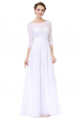 Elegant White 3/4 Sleeve...