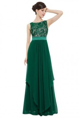 Dark Green Sleeveless Round...