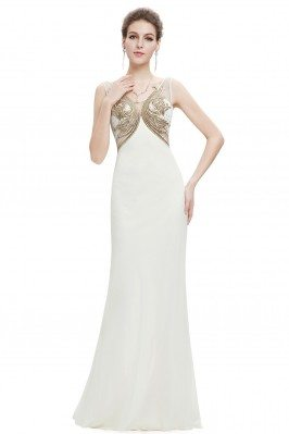 Gold and White Long Sheer...