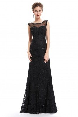 Black Sexy Long Lace...