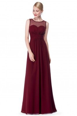 Burgundy Illusion Neckline...