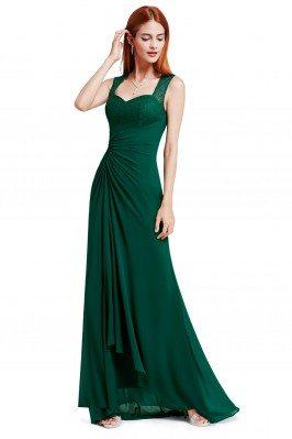 Dark Green Simple Sheer...