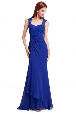 Royal Blue Simple Sheer...