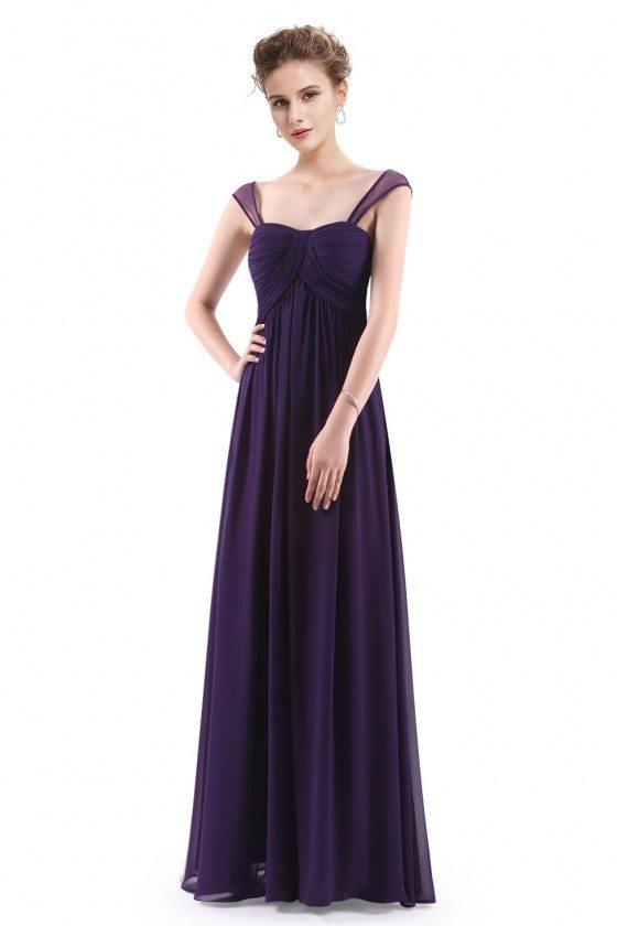 Dark Purple Simple Corset Back Long Evening Dress