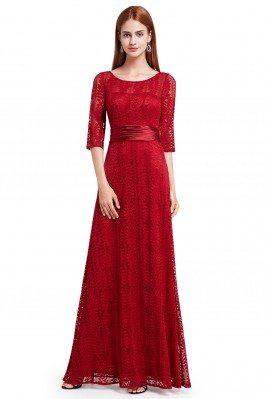 Burgundy Lace Half Sleeve...