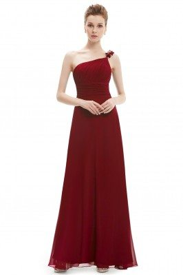 Burgundy One Shoulder...