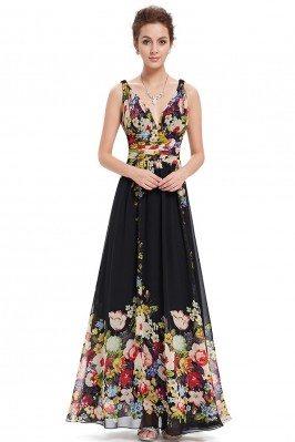 Red Carpet Style Crystals V-neck Long Evening Dress scx993