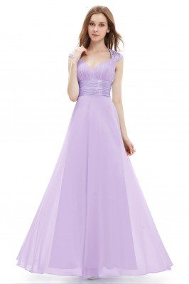 Lavender V-neck Sequins...