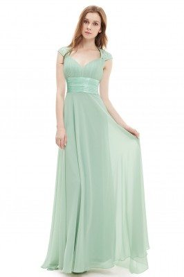 Mint Green V-neck Sequins...