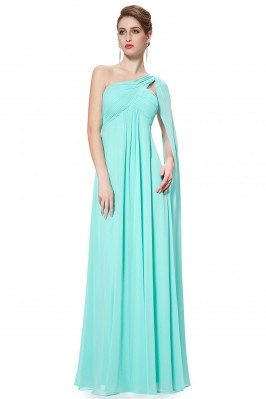 Aqua A-line One Shoulder...