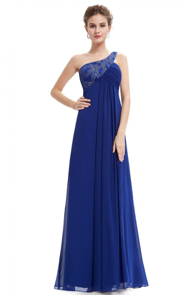 Royal Blue One Shoulder Open Back Prom Dress - $52 #EP09872SB ...