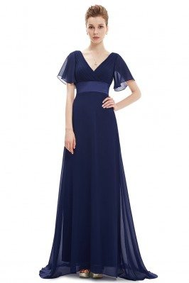 Navy Blue Chiffon Double...