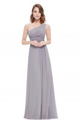 Elegant Grey One Shoulder...