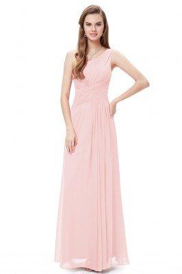 Elegant Pink One Shoulder...