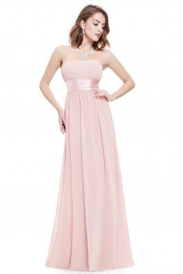 Strapless Ruched Bust Pink...