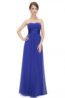 Strapless Ruched Bust Royal...