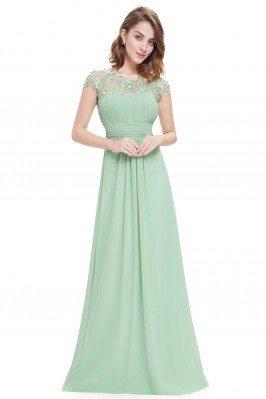 Mint Green Lacey Neckline...