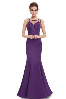 Purple Round Neck Mermaid...