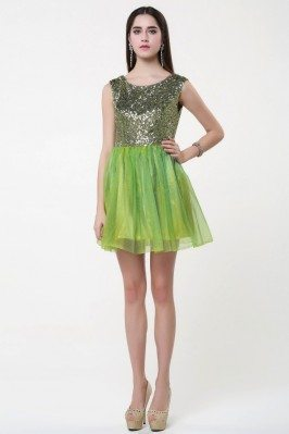 Sequin And Tulle Short Party Dress Onsale