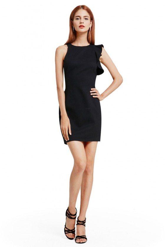 Unique Short Bodycon Fitted Little Black Dress