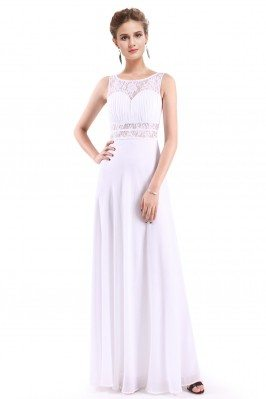 Women's White Elegant Long...