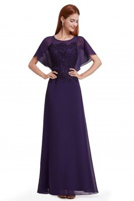 Women's Purple Lace Chiffon...