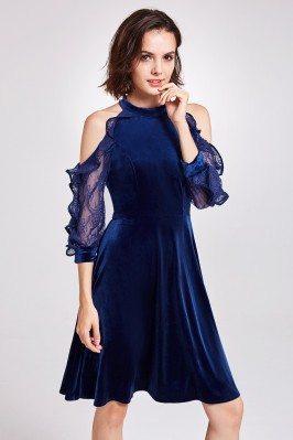 Charming V-neck Champagne Long Formal Gowns Online sci162