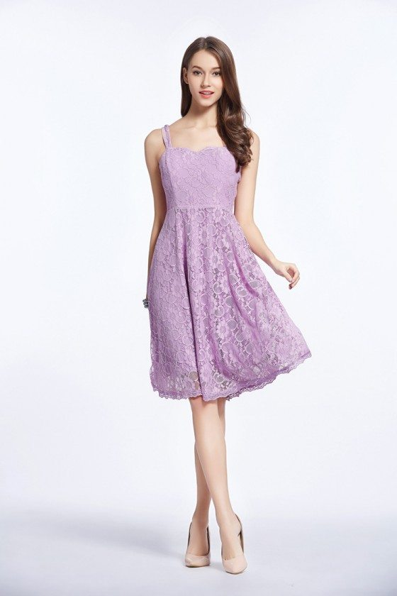 Simple Lilac Lace Little Prom Dress with Jacket - $76 #DK317 ...