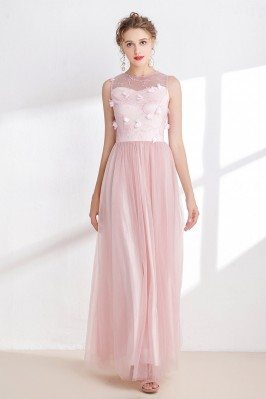 Blush Pink Tulle Floral...