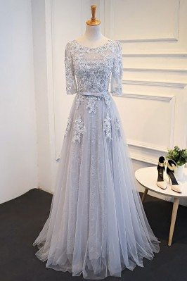 Elegant Satin Lace Half...