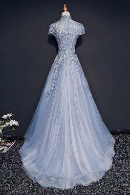 Expensive Ladies Long Champagne Beaded Evening Dresses Long Online sci108