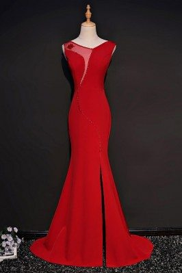 Unique Red Fitted Mermaid...